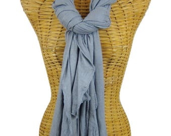 Large Gray Bamboo Scarf
