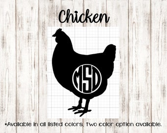 Chicken Monogram ~ Country Collection