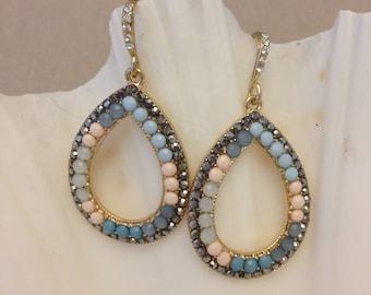 Vintage Tropical Loop Earrings