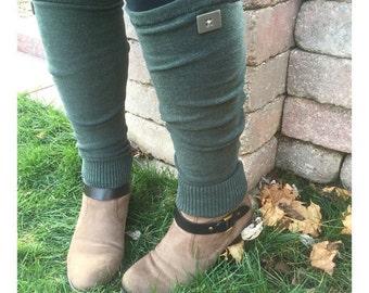Sage Green Leg Warmers - Sage Leg Warmers - Green Leg Warmers - Green Knit Leg Warmers - Sage Knit Leg Warmers - Green Legwarmers