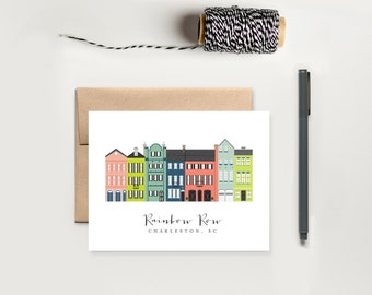 Charleston Rainbow Row Notecard Stationery Set