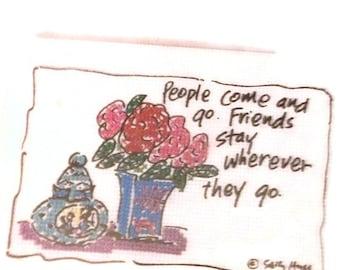 Sally Huss' Happy Art no-count cross stitch kit PEOPLE FRIENDS