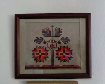 Wandpano with a Bulgarian embroidery motif.