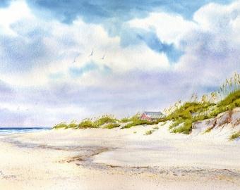 Summer Retreat- Beach Decor- Beach Print- Sand Dunes Beach House Decor