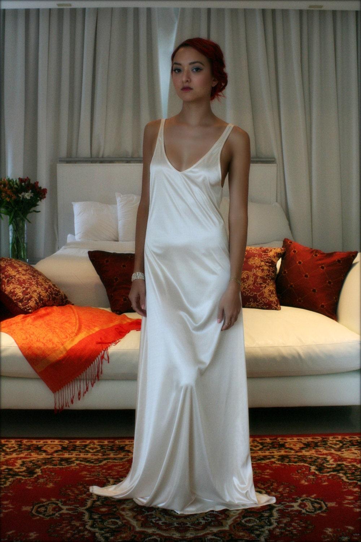 Super Bridal Nightgown Satin Slip Dress Liner Bridal Slip Wedding SO95