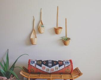 woven wall baskets boho decor woven wall hanging woven wall baskets wall planter wall spoon wicker wall art wicker wall basket rattan basket