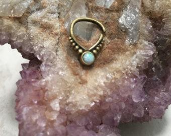 Galaxy brass septum ring