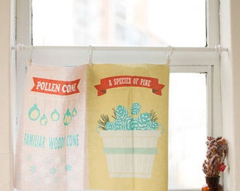 Cotton Linen Fabric Cloth -DIY Cloth Art Manual Cloth -Nature Christmas 55x33 Inches