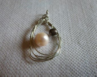 Very thin romantic sterling silver freshwater pearls and sterling
