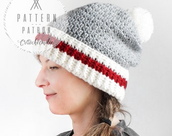 CROCHET PATTERN #003---Crochet Canadian socks hat