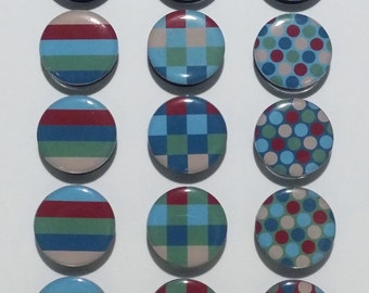 Stripes, Checks, Dots  Fridge Magnets / Refrigerator Magnets / Magnet Set