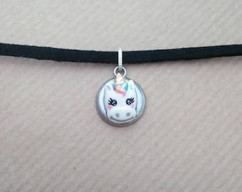 Unicorn inspired, Kawaii, for teens, for girls, for her, gift, for teen, Choker, Necklace