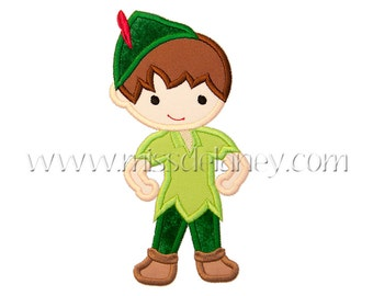 Peter Pan Applique Design