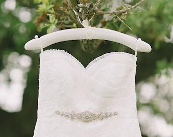Floral Wedding Dress Hanger, Custom Vintage Dress Hanger, Photography Prop, Padded Hanger, Wedding Gift, Ready to Ship