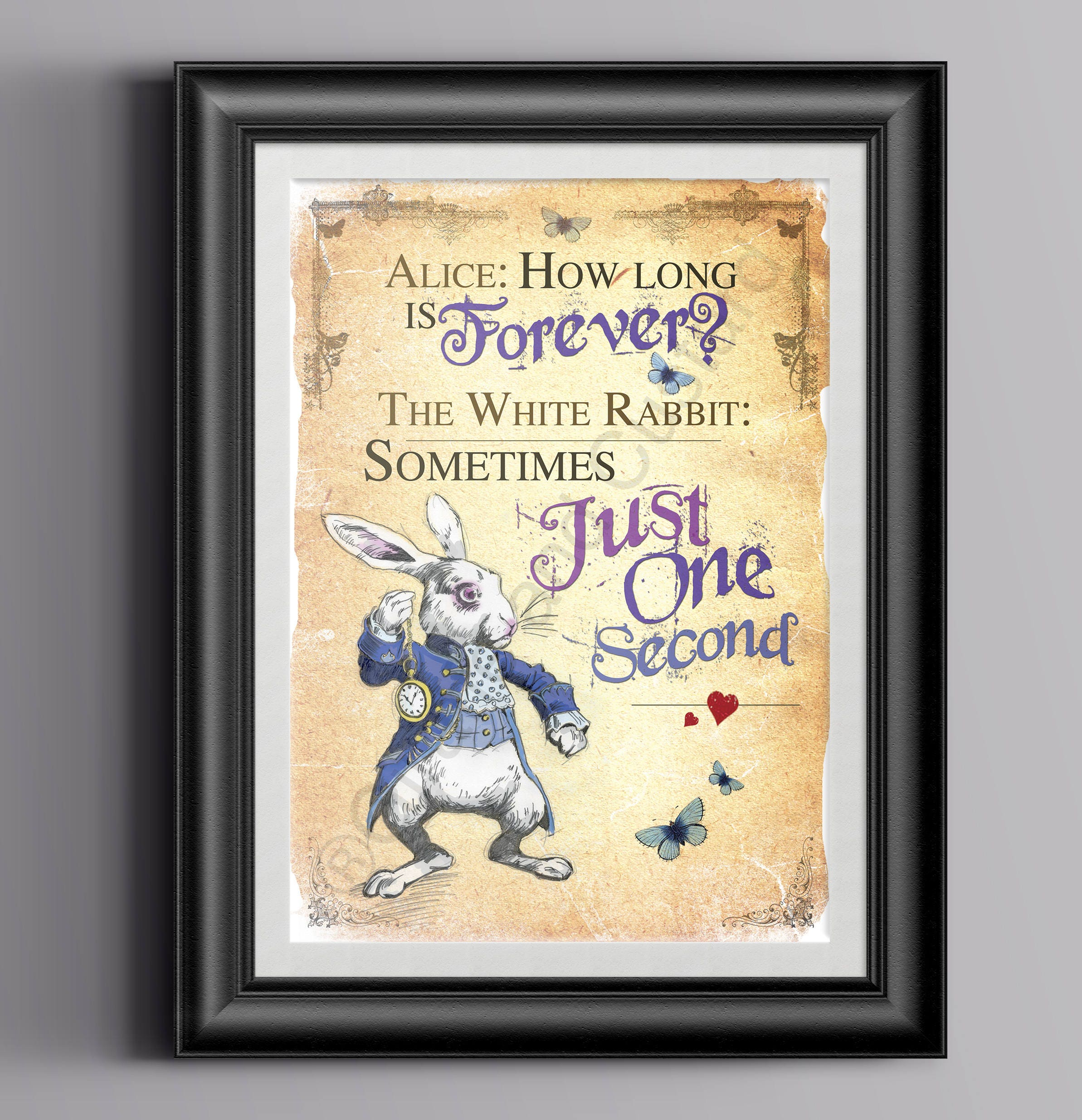 Alice in Wonderland Instant Download Wall Art Printable A4