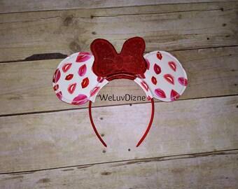 Kiss Lips Mouse Ears and bow Headband