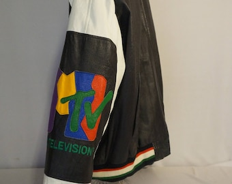 Vintage 1992 rare MTV limited edition leather jacket -- PIMP