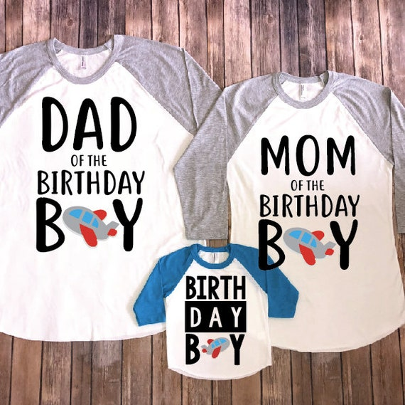 Boy Shirts Shirt Birthday Mom And Dad Parents Of Matching