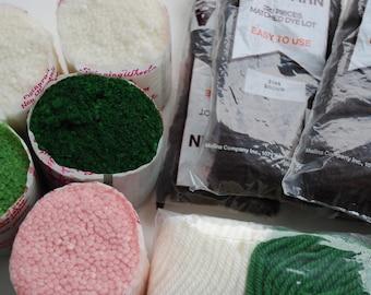 10 package Rug Yarn Vintage Spinning Wheel rug yarn/Malina rug yarn/ latch hook yarn