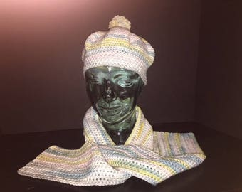 Crochet Adult Hat and Scarf