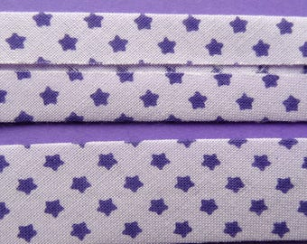 4 10mm - printed cotton m purple stars on purple background