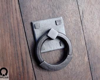 Barn door hardware Hand forged door handle Sliding barn door Wought iron Door handle Gothic home decor