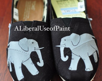 Elephant - Hand Painted Toms