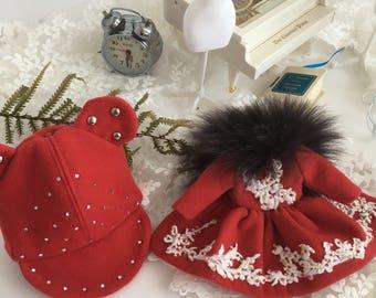 Red coat for Blythe /Doll coat /Doll clothing /doll outfit / blythe coat  /pullip coat / blythe outfits dolls / Licca coat / Pillip coat