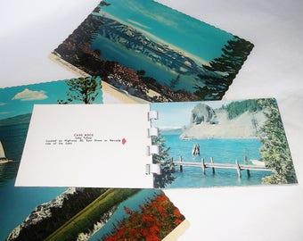 Vintage LAKE TAHOE California • Picture Booklet & Postcards •RPPC