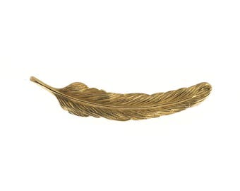 10K Gold Feather Pin