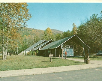 Vintage 1980s Postcard Tennessee Great Smoky Mountains National Park Cades Cove Campground Store Shop Photochrome Era Postally Unused