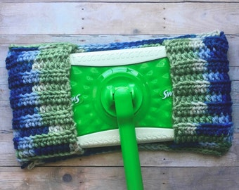 Crochet Reusable Dust Mop Cover, Swiffer Cover, Sweeper Cover, Handmade by KathysYarnCreations