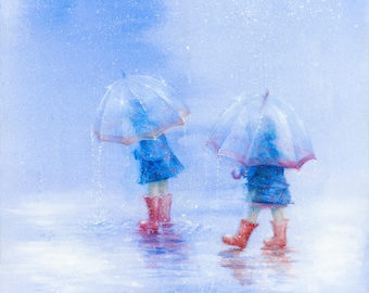 Girls with Umbrellas (Limited Edition Print)