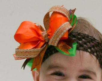 Fall hair bow, Autumn bow, Baby bow, Girls hair bow, Boutique hair bow, Layered hair bows, Newborn hair bow, Baby headbands, Girl headbands,