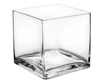Good Glass Cube Vases With 4 Inches Height By 4 Inches Width. Pack Of 6 Pcs
