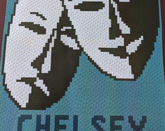Custom Drama – Teen/Adult Size C2C Crochet Blanket Afghan Graph Pattern – 75x90 C2C crochet squares