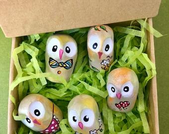 Tiny Owls/ Set of 5