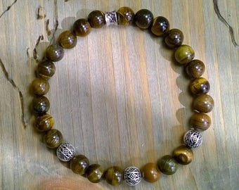 Men's bracelet Tigers eye