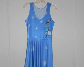 Jack Frost Snowflake Blue Dress