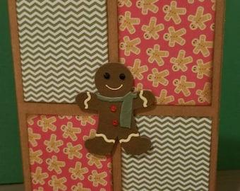 Gingerbread Man #2 Christmas Card/Cardstock/Greetings/Blank Cards
