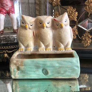 Serious Love For These 3 Charmers Vintage  USA Owl Planter