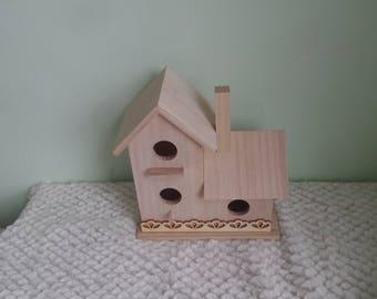 Unifinished bird house, Bird house, Wood bird house, DIY birdhouse, Paint your own bird house