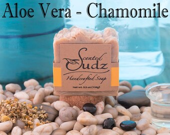 Homemade Soap | Aloe Vera Soap | Chamomile Soap | Handcrafted Soap | Handmade Soap | Natural Soap | Camomile, Natural, Soap | Handmade Soap