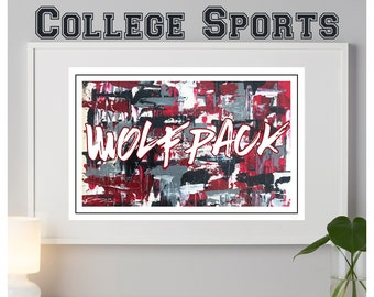 North Carolina State Wolfpack abstract poster