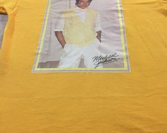 Vintage 'Black' Michael Jackson Iron On Sportwear Size M Made in Usa