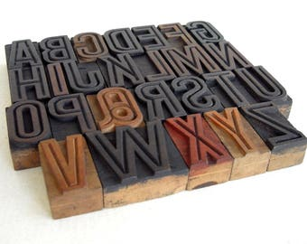 A to Z - Vintage Letterpress Wood Type Collection - VG02