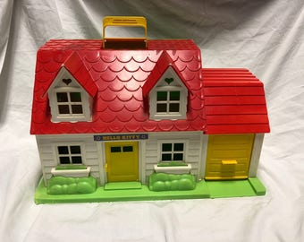 Vintage 1984 Hello Kitty Santio CBS toys Doll House (Kitty House)