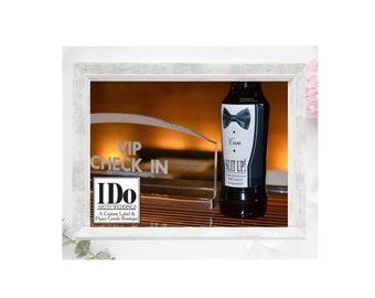 Tux Liquor Label - Groomsmen Gift Idea - Best Man Tuxedo Sticker - Personalized Groomsmen Gift, Thank You Gift, Asking Groomsmen Box Label