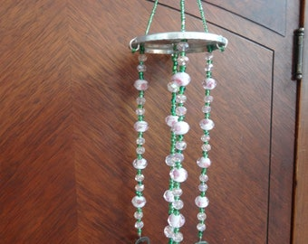 Wind Chime. Unique, One of a Kind, Handmade, Beaded, Repurposed, Recycled