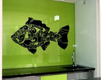 Fish Pattern Sea Ocean Wall Vinyl Decal Sticker Home Decor Art Mural  Z445